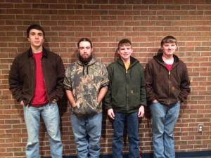 Team members were Eli Belflower, Ben Jackett, Taylor Harrell, and Dalton Lucas